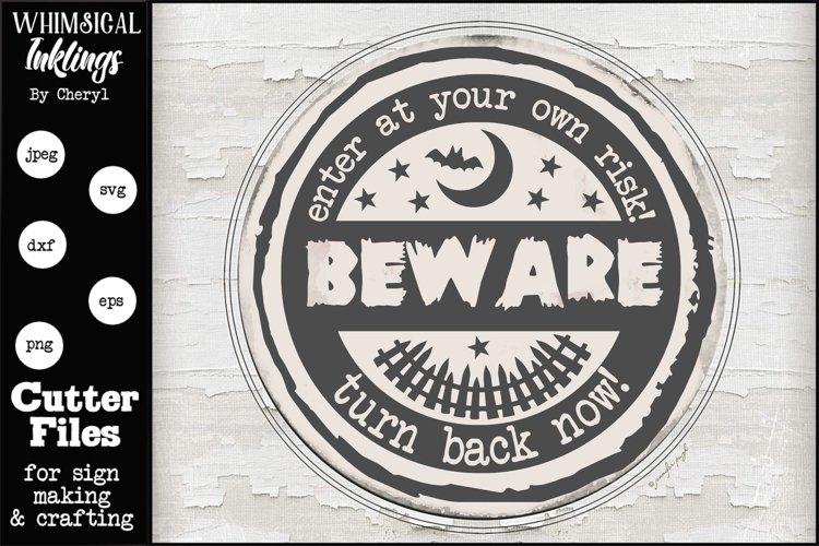 Beware- Halloween SVG example