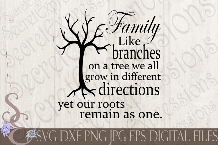 Family Like branches on a tree example image 1