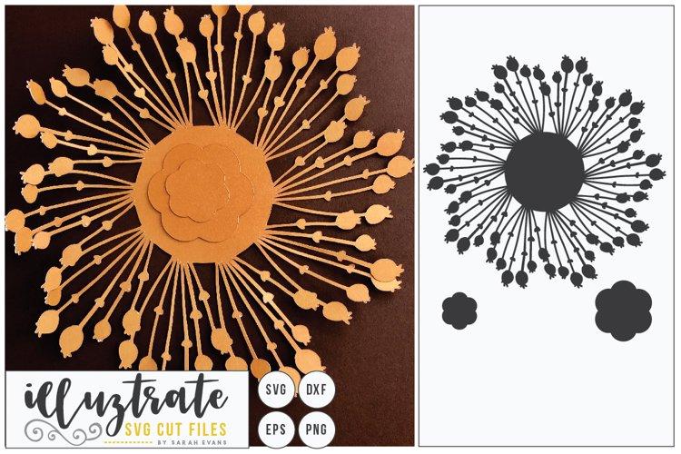Paper Cut Flowers SVG Cut File - Paper Cutting Bundle DIY - Free Design of The Week Design6
