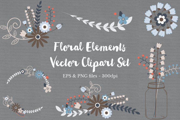 Floral Wreath Clipart Vectors