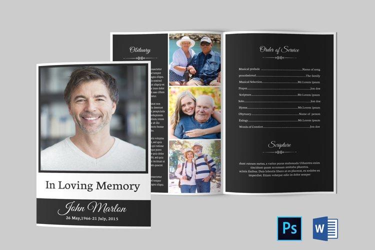 Funeral Program Template   Obituary Template