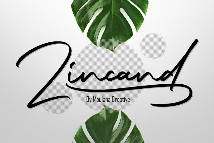 Zincand Modern Script Font example image 1