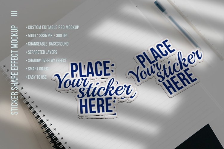 Sticker Shape or Text Effects Mockup