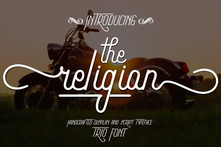 The Religion Trio Font example image 1