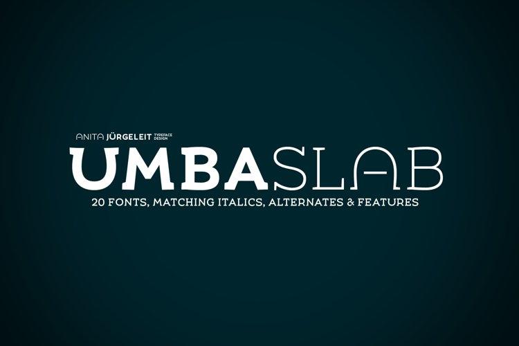 Umba Slab Family example image 1