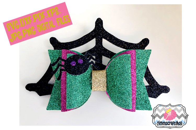 Spider Hair Bow Template. Svg. Dxf. Pdf. Eps. Jpg. Png example image 1