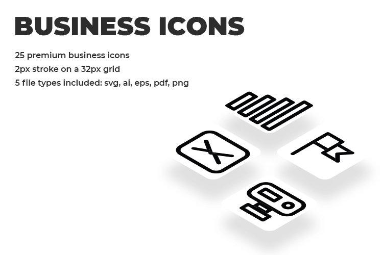 25 Black Minimalist Premium Business Line Icon Set example image 1