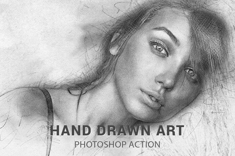 Hand Drawn Art Photoshop Action example image 1