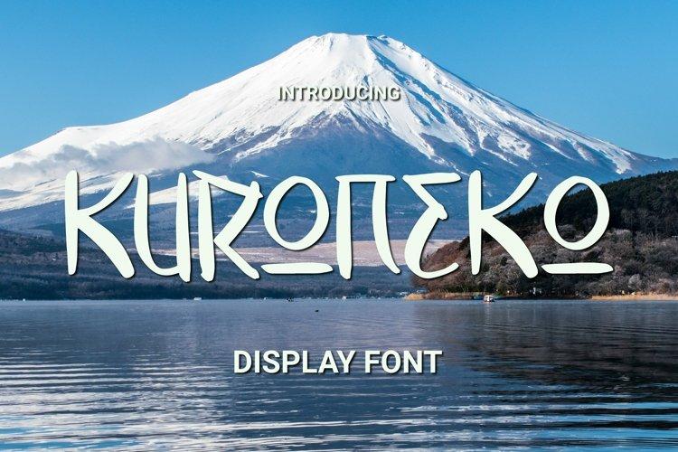 Web Font KURONEKO Font example image 1
