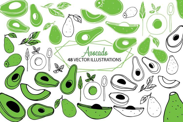Avocado Set | Vector example image 1
