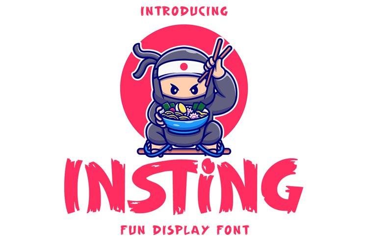 Insting - Fun Display Font example image 1