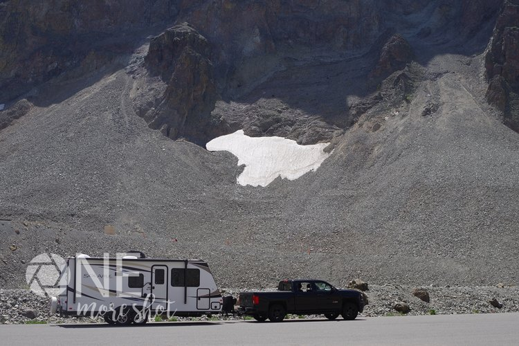 Yellowstone National Park Camper Snow - Western USA Photo example image 1