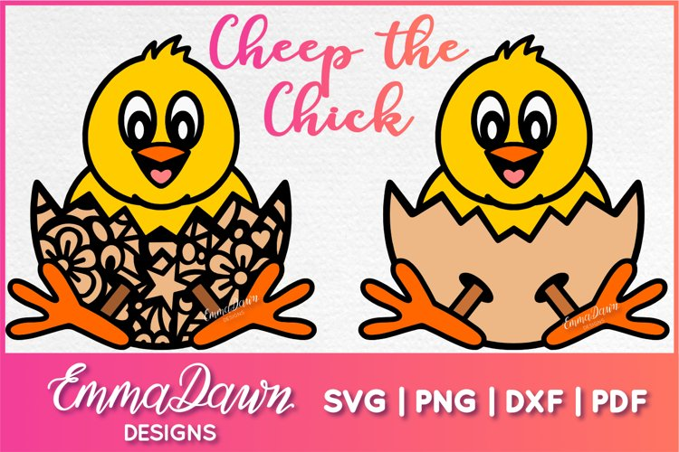 CHEEP THE CHICK SVG 2 MANDALA ZENTANGLE DESIGNS example image 1