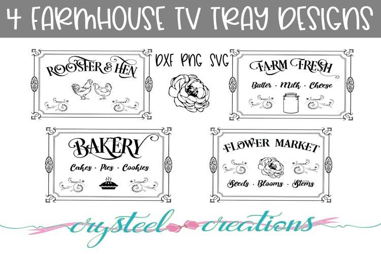 Farmhouse TV Tray Designs Bundle 4 designs example image 1