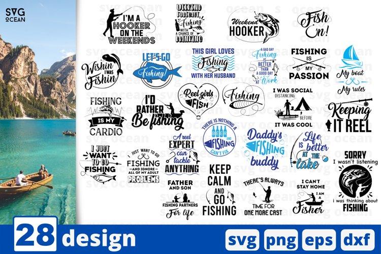 Fishing SVG bundle | Fisher vector | Fish print | Fisherman example image 1