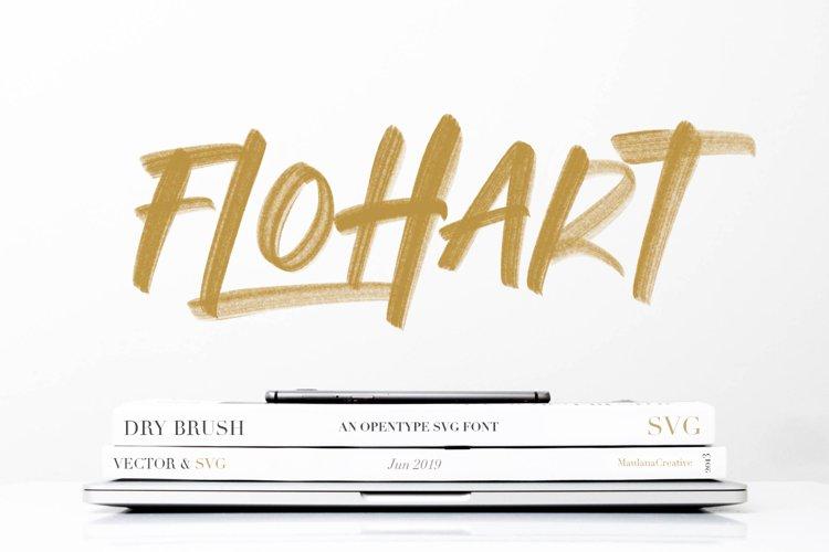Flohart Svg Brush Font example image 1
