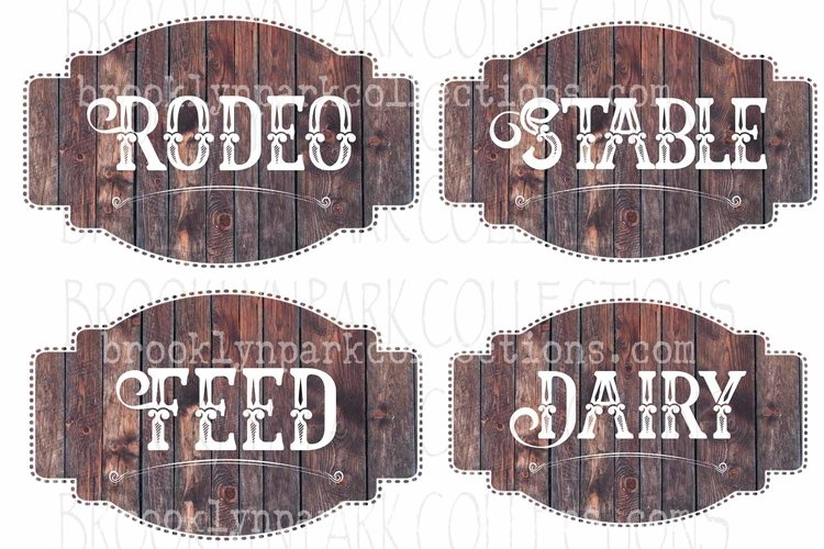 Ranch House Label, Sign, Bundle, Clip Art Print, Sublimation