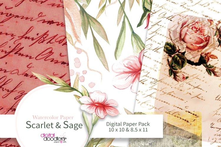 Scarlet & Sage Watercolor Paper