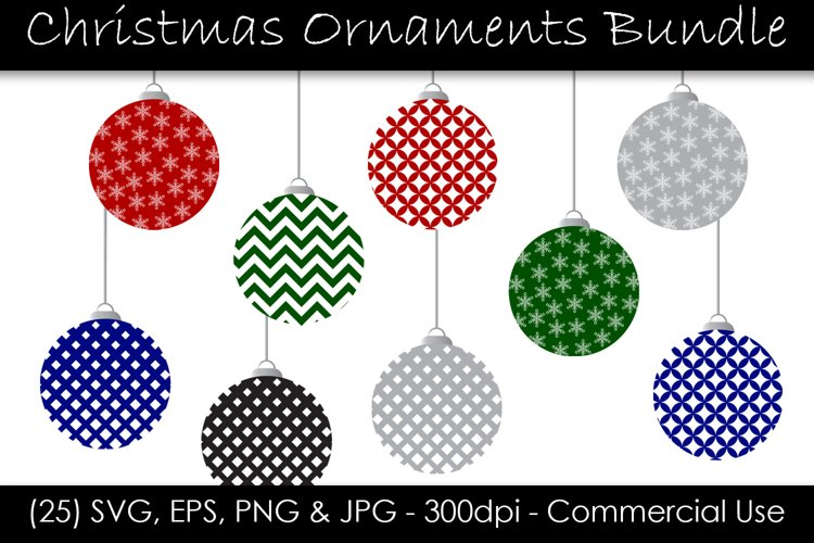 Christmas Ornament SVG Bundle - Holiday Ornaments example image 1