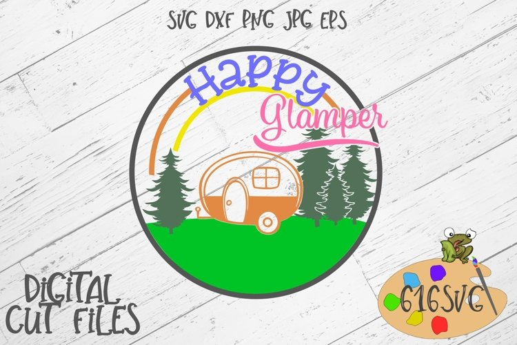 Happy Glamper SVG example image 1