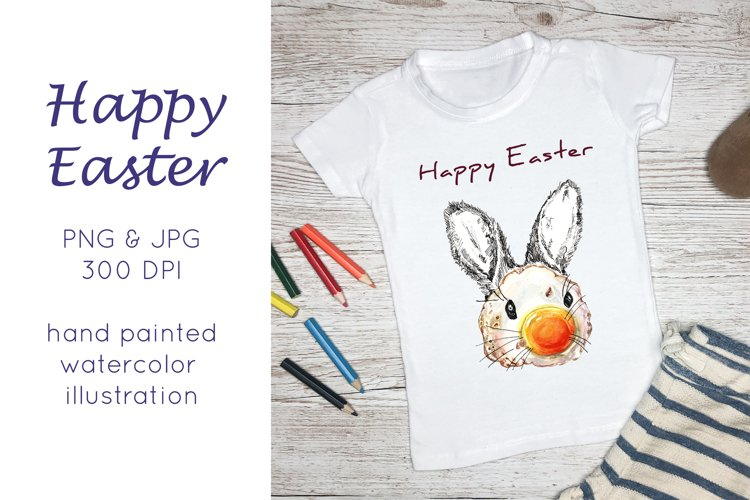Watercolor easter bunny Sublimation