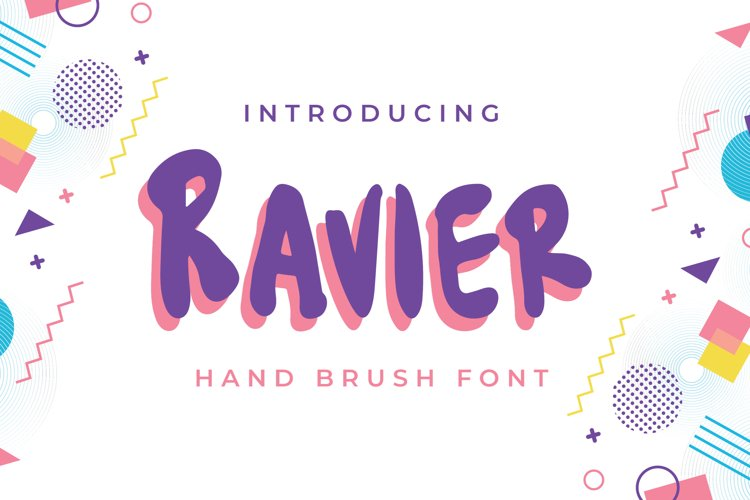 Ravier - Hand Brush Font example image 1