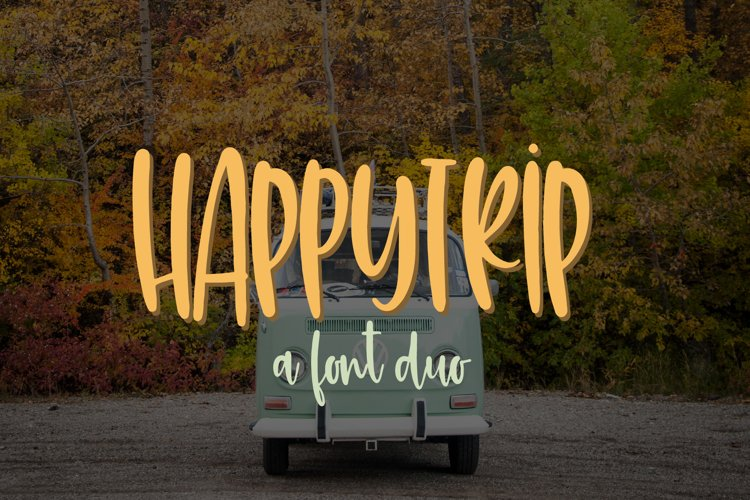 HappyTrip Font Duo example image 1