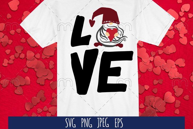 Valentine SVG cut file. Love example image 1
