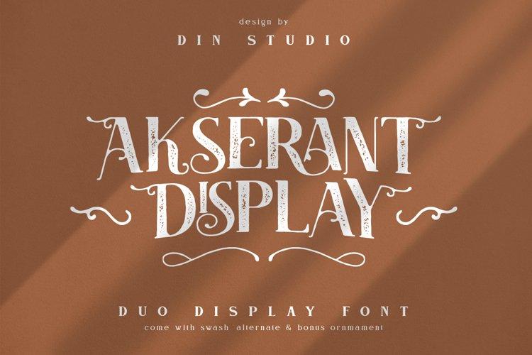 Akserant Display Font example image 1