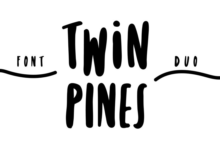 Twin Pines | Font Duo example image 1