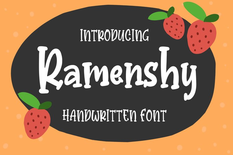 Ramenshy - Handwritten Font example image 1