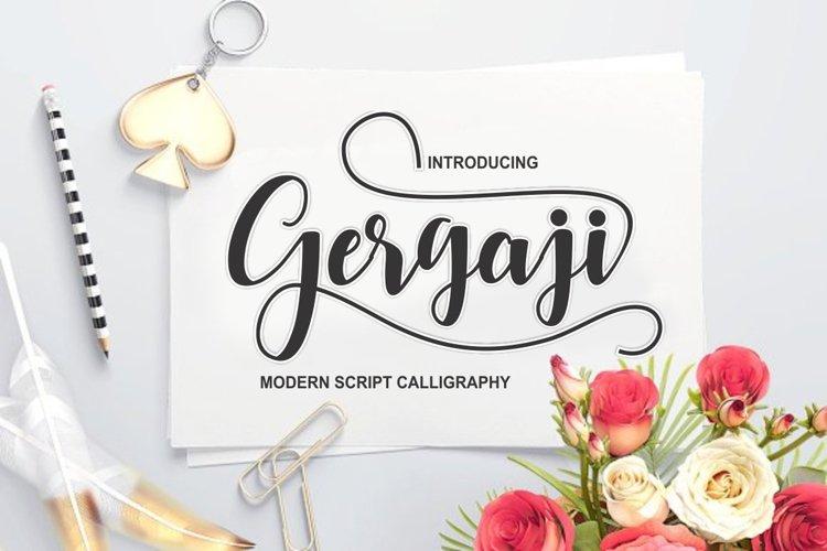gergaji script font