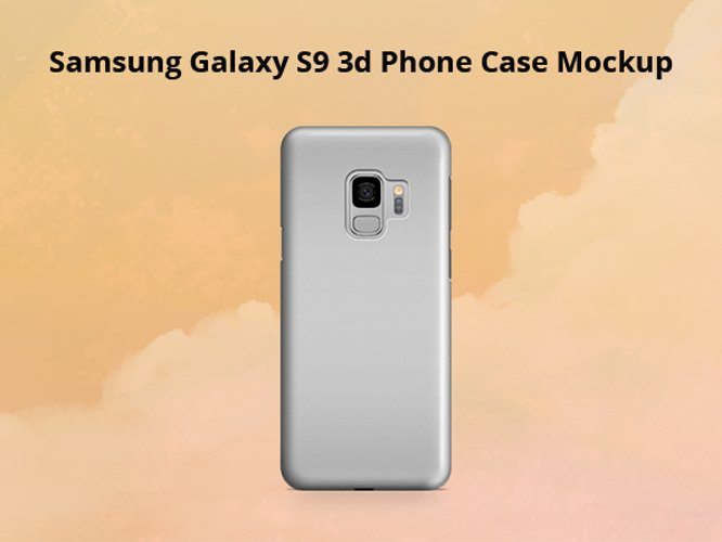 Samsung Galaxy S9 3d Phone Case Mockup Back View example image 1