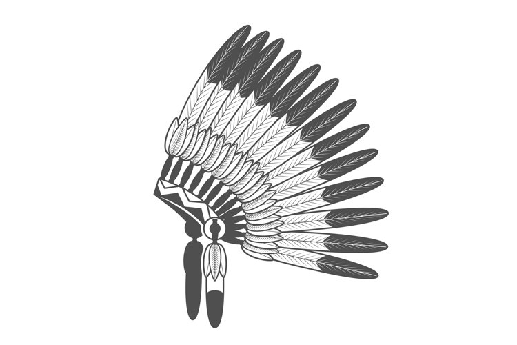 Native American Feathered War Bonnet example image 1