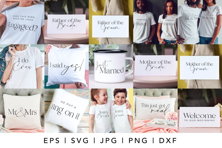 Wedding SVG and Engagement SVG Bundle for Cricut Crafting