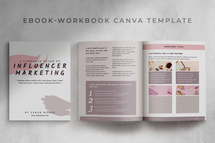 eBook-Workbook Hybrid Canva template | Sandy example image 1