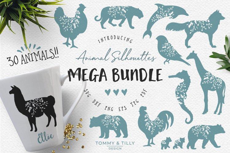 Animal Silhouettes Mega Bundle - SVG DXF PNG EPS JPG PDF Cut example image 1
