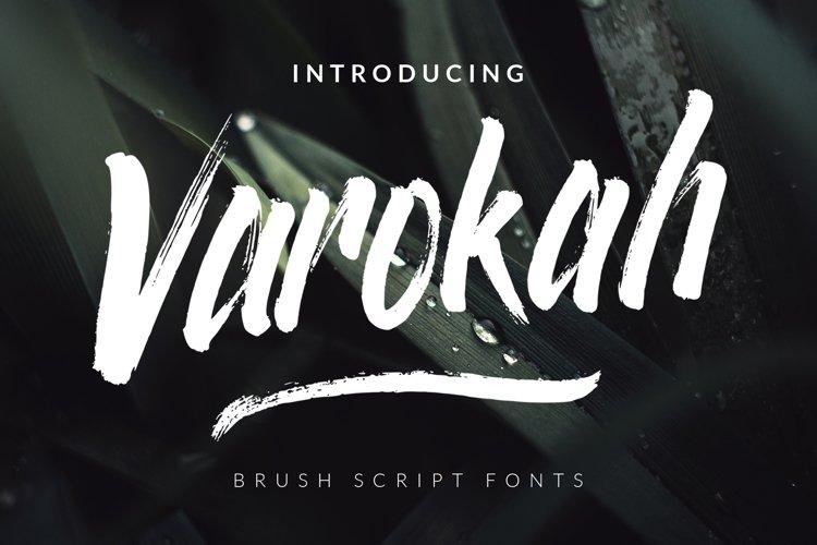 Varokah - Brush Script Fonts example image 1