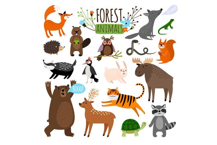 Forest animals set example image 1