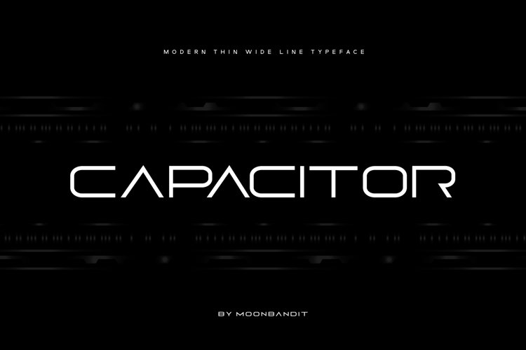 Capacitor - thin expanded sans serif