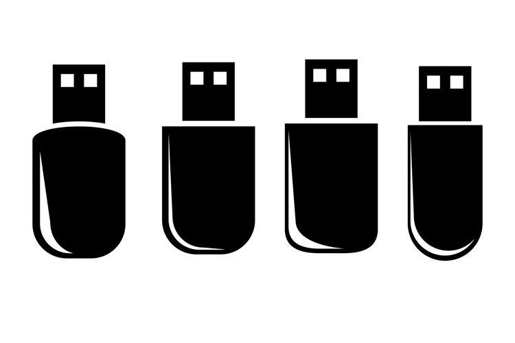 Silhouette Icon, USB FlashDisk