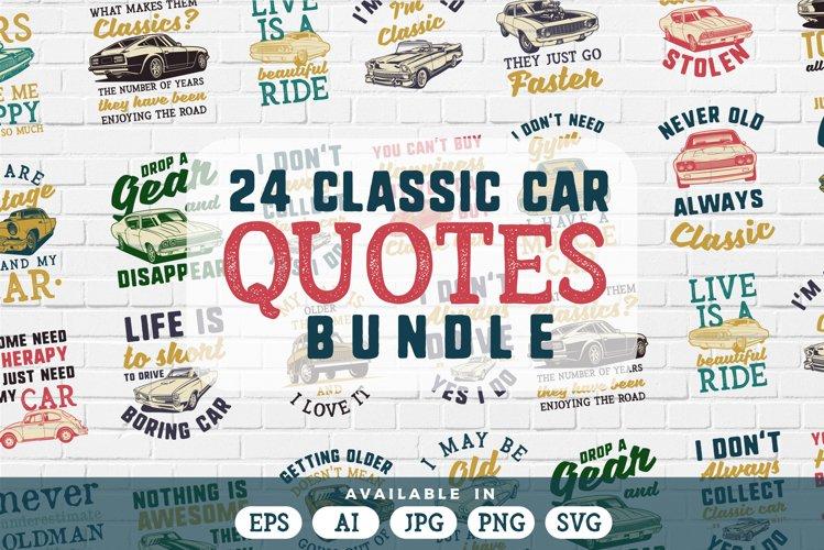 24 Classic car quotes bundle