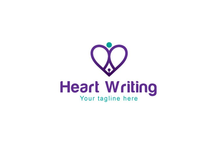 Heart Writing - Iconic Stock Logo Template example image 1