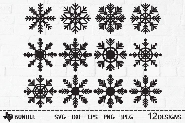 Snowflake Bundle SVG, Cut File, Christmas Shirt Designs example image 1