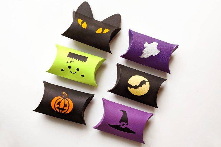Halloween Pillow Box SVG Design Set example image 1
