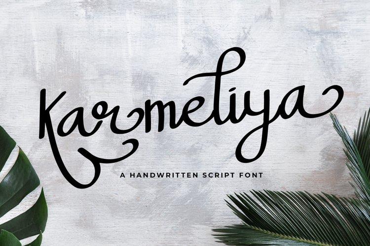 Karmeliya a Handwritten Script Font example image 1