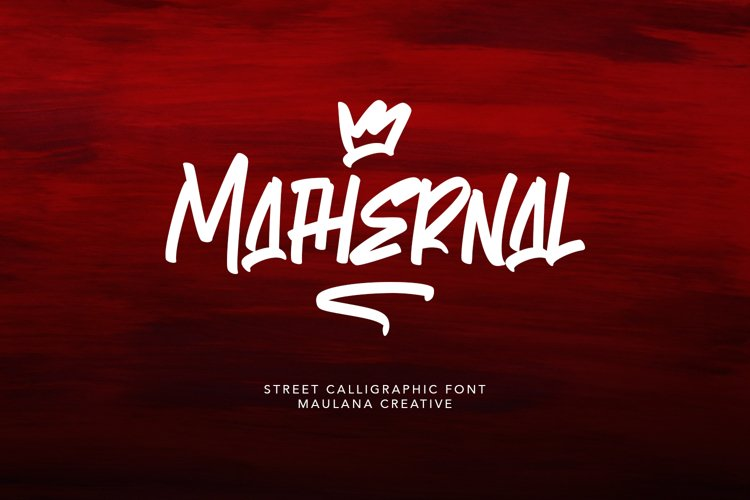 Mathernal Street Calligraphic Font example image 1