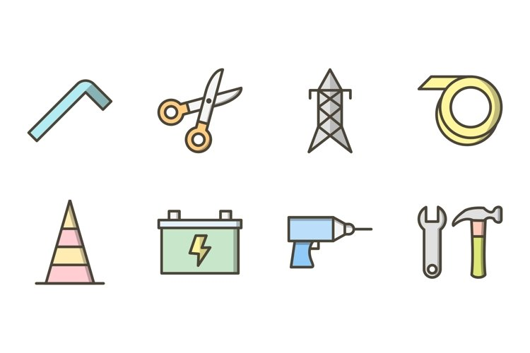 Set Of Construction Icons example image 1
