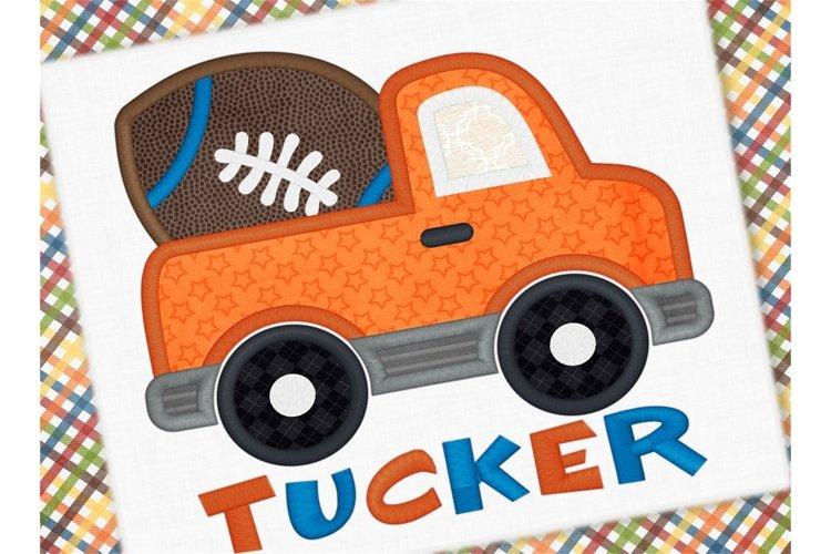 Football Truck Applique Design 1266 example image 1
