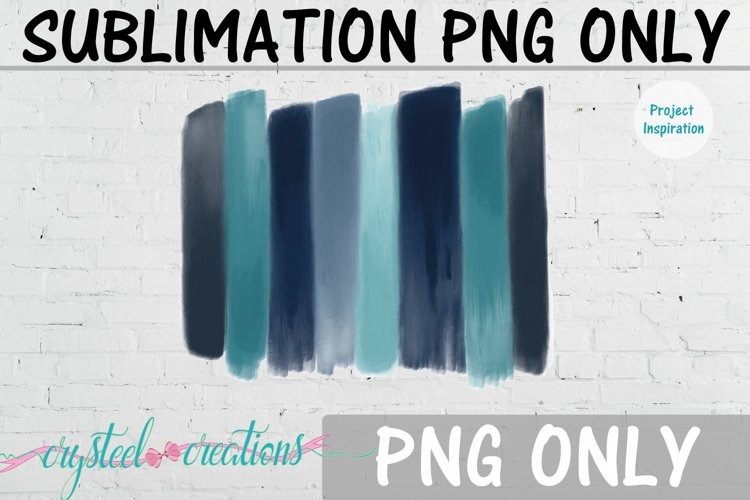 Sublimation Water Color Brushstrokes 300dpi PNG example image 1